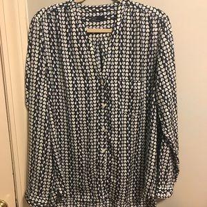 GAP V-neck heart blouse